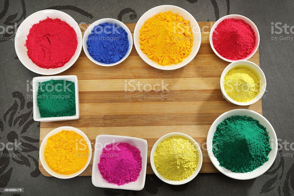gulal or face powder at holi royalty free stock photo