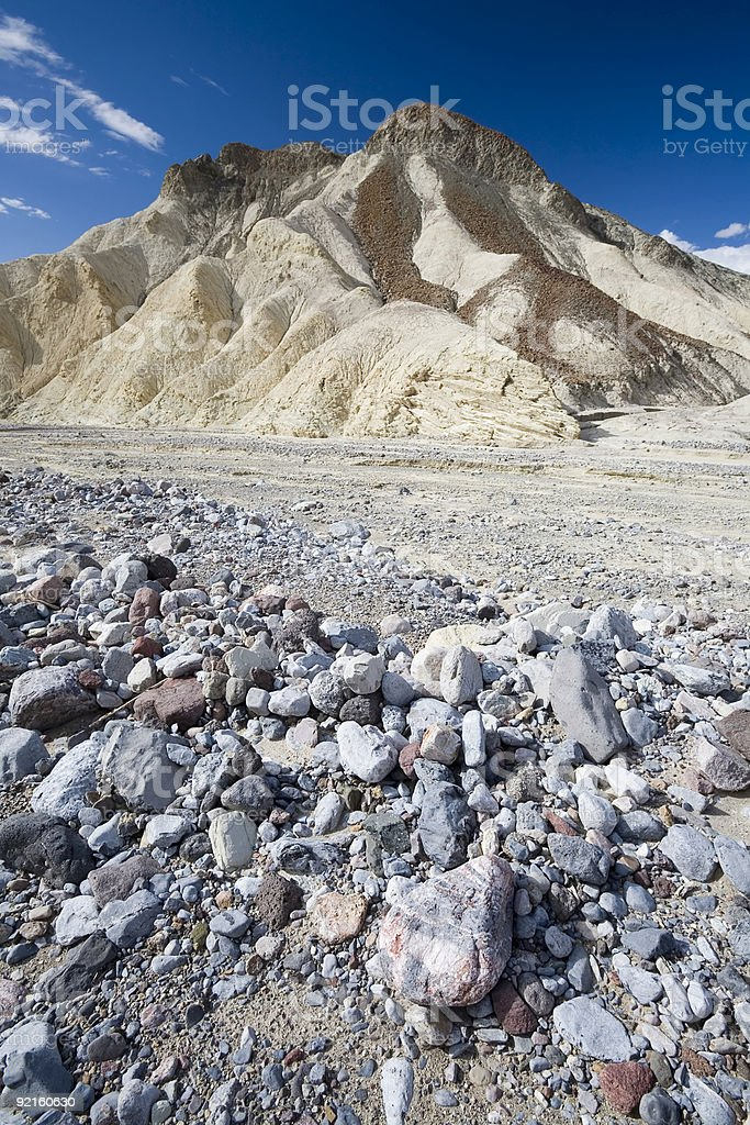 Gulch in Death Valley royalty-free stock photo