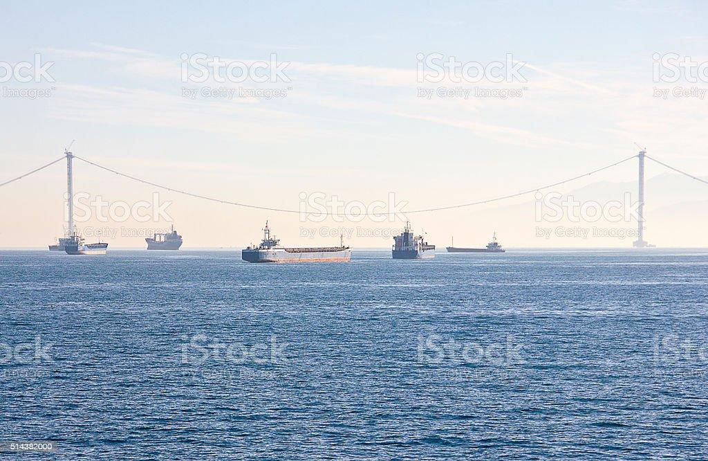 Gulf Bridge stock photo
