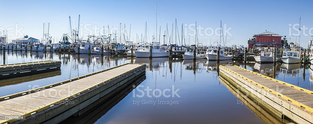 Gulf Coast Marina stock photo
