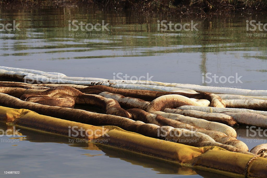 Gulf Coast oil spill stock photo