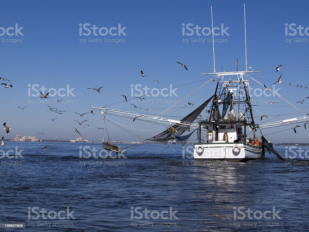 Gulf Coast Shrimp Boat stock photo