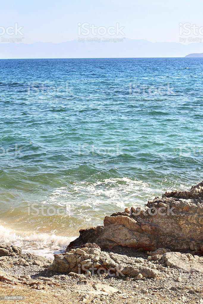 Gulf of Corinth Ionian Sea, Greece stock photo