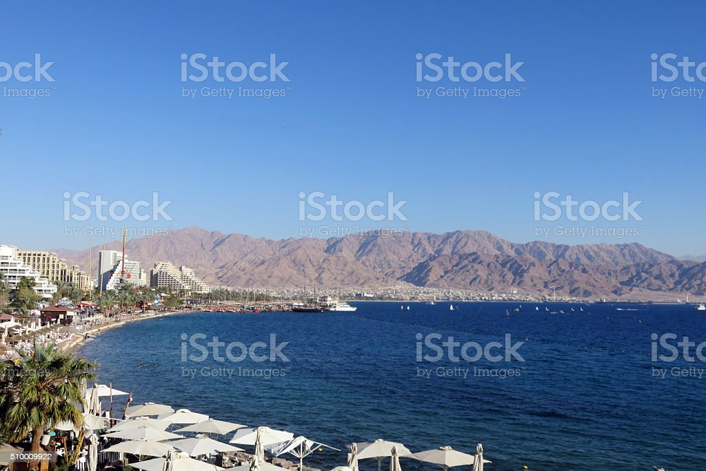 Gulf of Eilat stock photo
