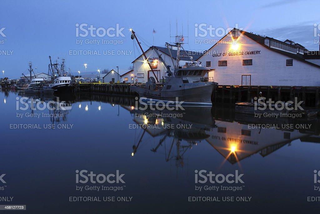 Gulf of Georgia Cannery Dawn, Steveston, BC, Canada royalty-free stock photo