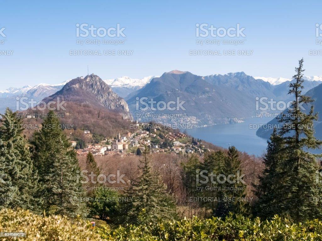 Gulf of Lugano stock photo