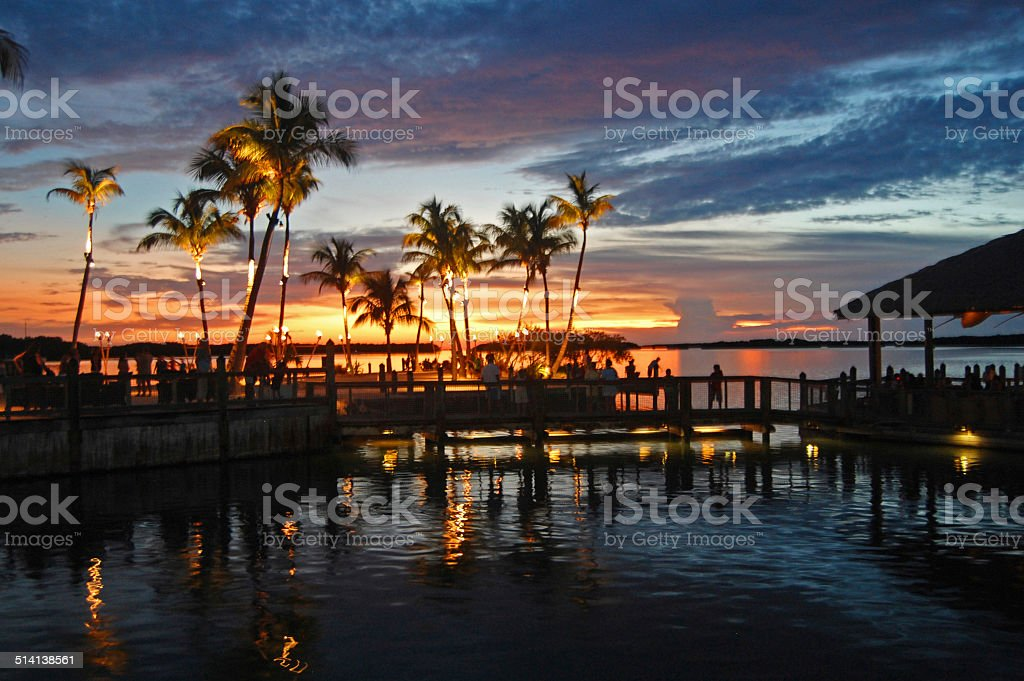 gulf of mexico sunset stock photo