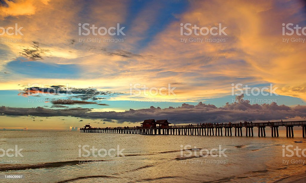 Gulf of Mexico,Naples pier stock photo