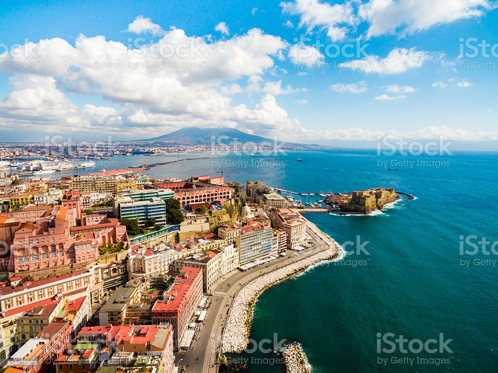 Gulf of Naples in Italy stock photo
