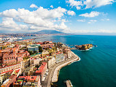 Gulf of Naples in Italy