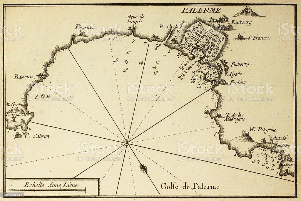 Gulf of Palermo stock photo
