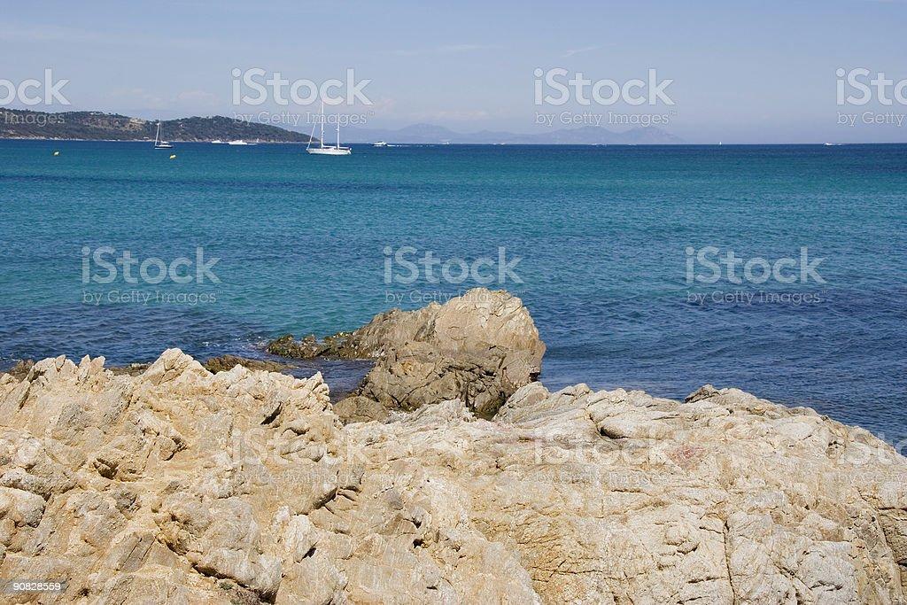 gulf of saint-tropez royalty-free stock photo