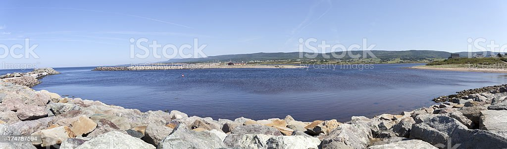 Gulf of St. Lawrence Panorama royalty-free stock photo