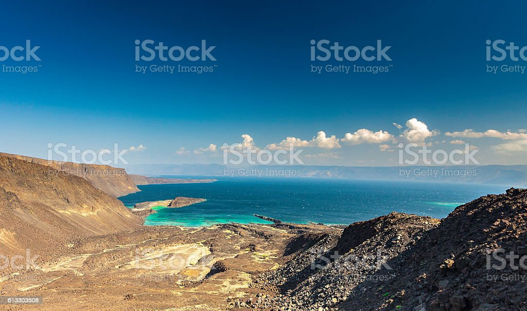 Gulf of Tadjourah view in Djibouti stock photo