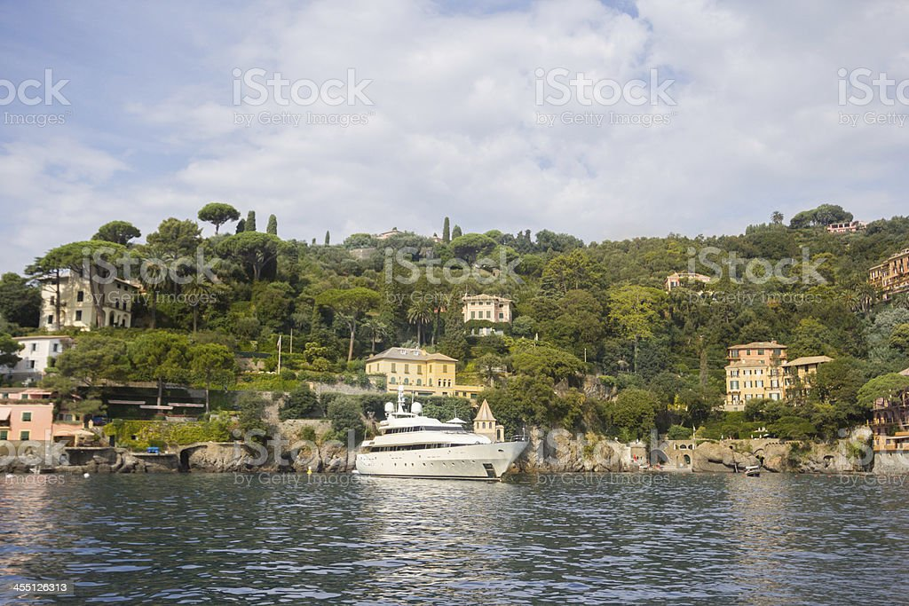 Gulf of Tigullio in Liguria, Italy stock photo