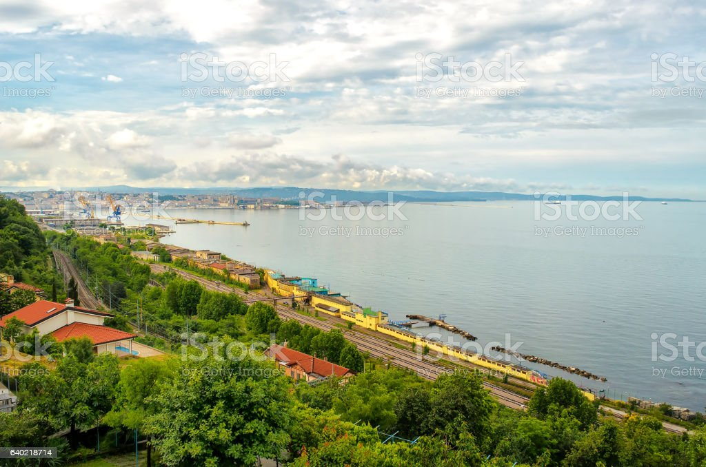 Gulf of Trieste - Friuli Venezia Giulia Italy stock photo