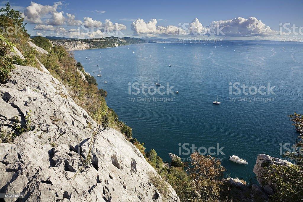 Gulf of Trieste royalty-free stock photo
