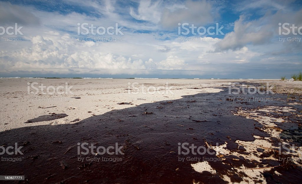 Gulf oil spill terrible accident royalty-free stock photo
