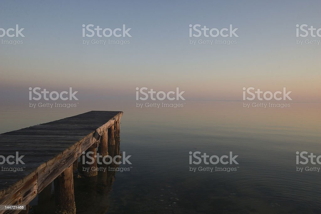 Gulf Shores Dock off Fort Morgan Road stock photo