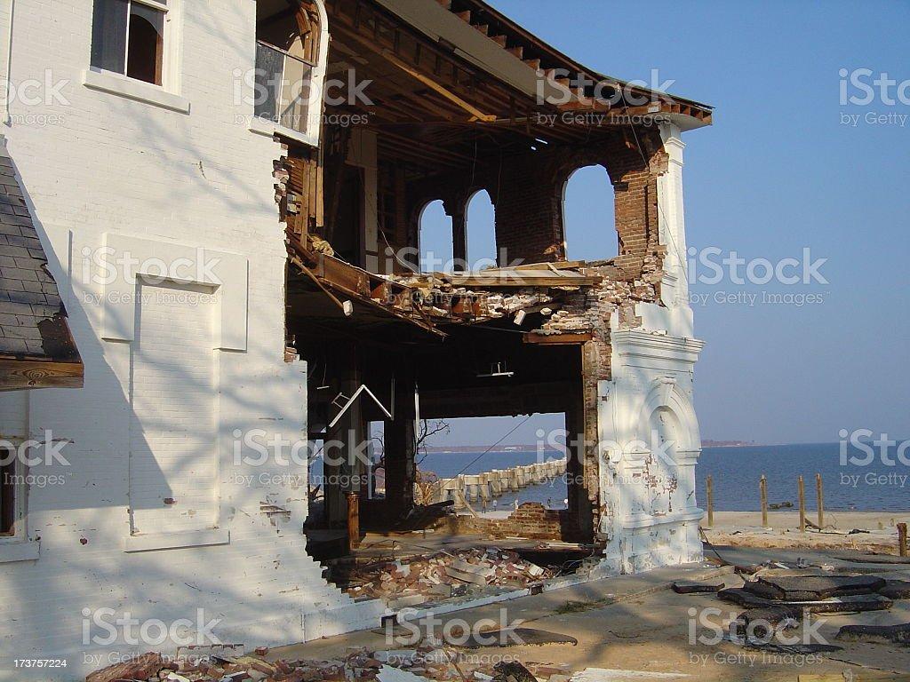 Gulf View through walls stock photo