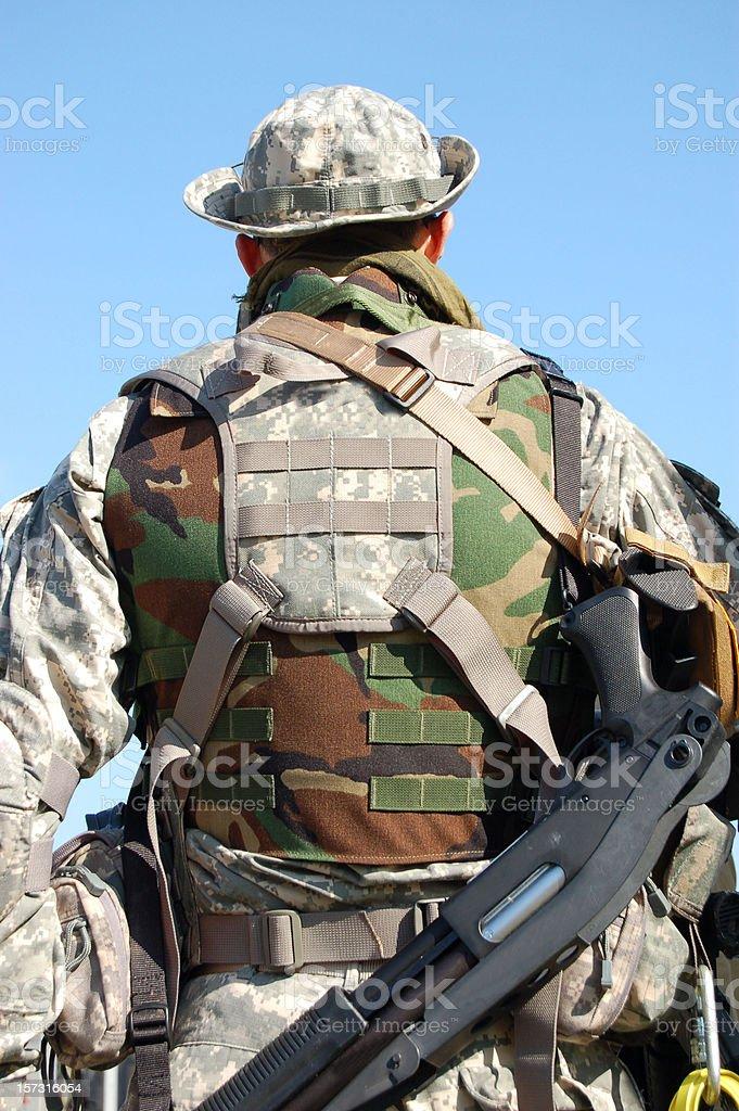 Gulf War Soldier. stock photo
