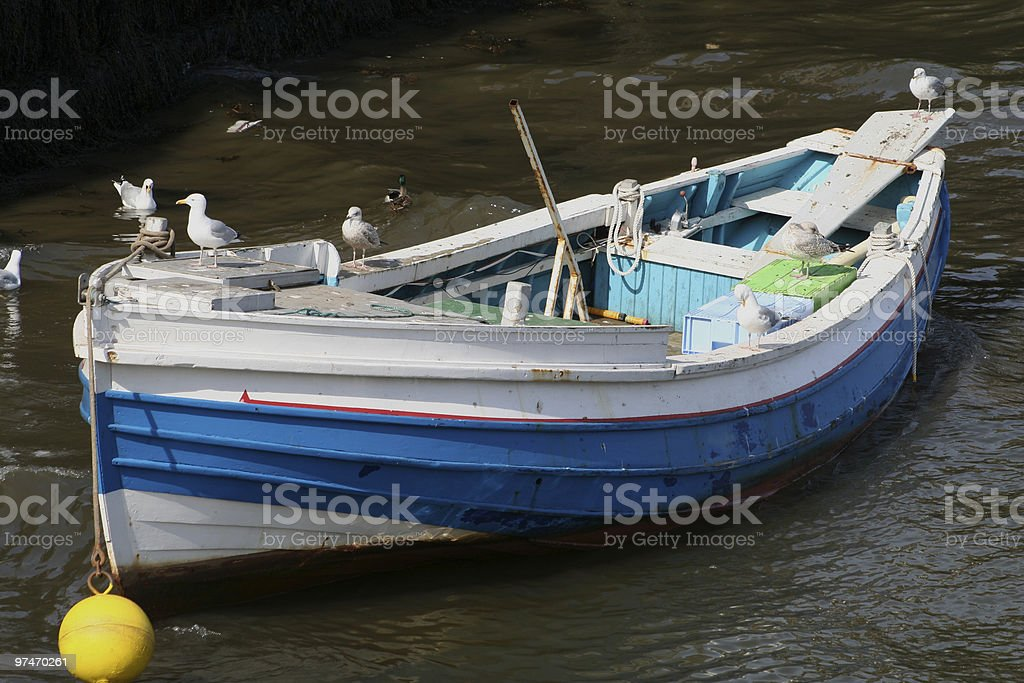Gull Boat. royalty-free stock photo