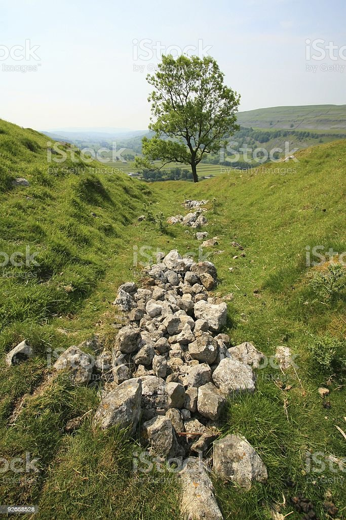 Gulley Valley stock photo