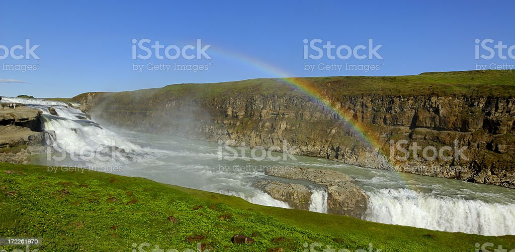 Gullfoos (golden waterfall) in Iceland royalty-free stock photo