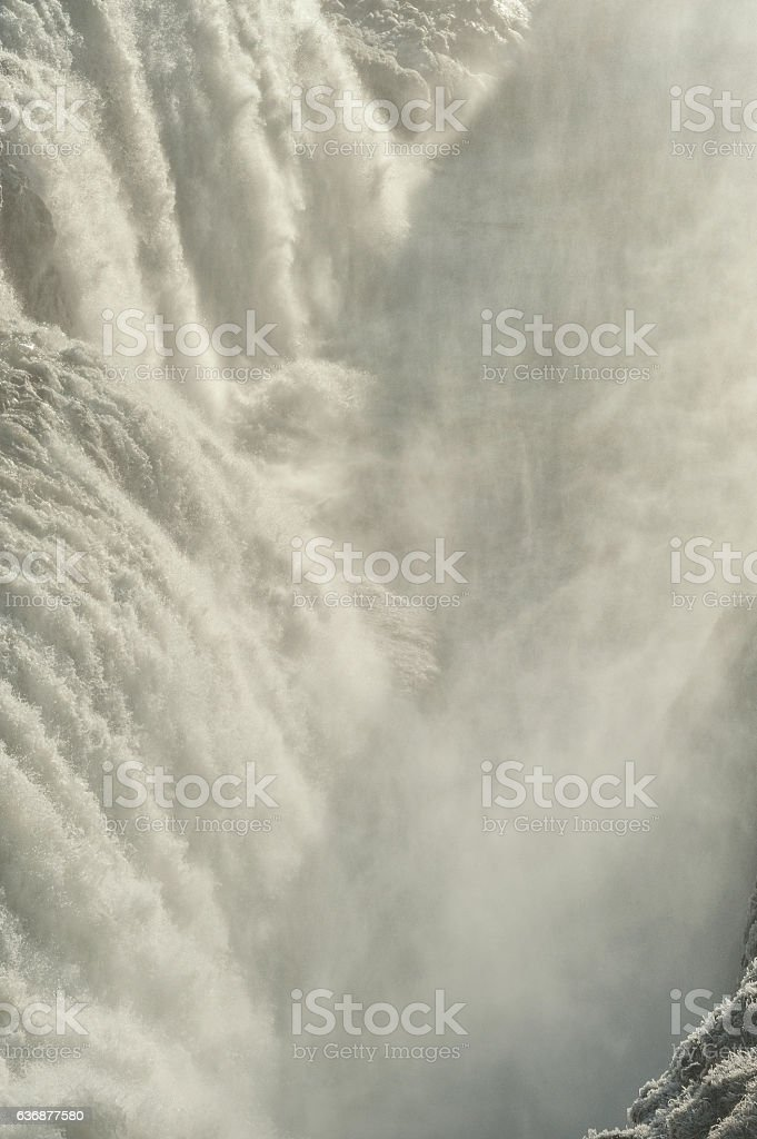 Gullfoss Falls in Iceland. One of the most Famous Falls stock photo
