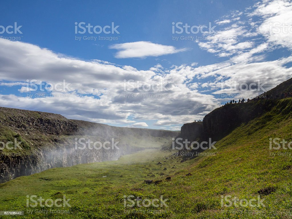 Gullfoss falls on Iceland stock photo