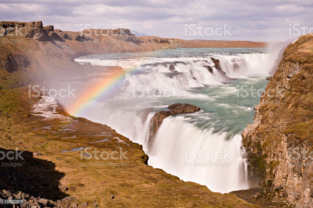 Gullfoss Long Exposure royalty-free stock photo