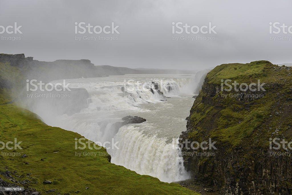 Gullfoss waterfall royalty-free stock photo
