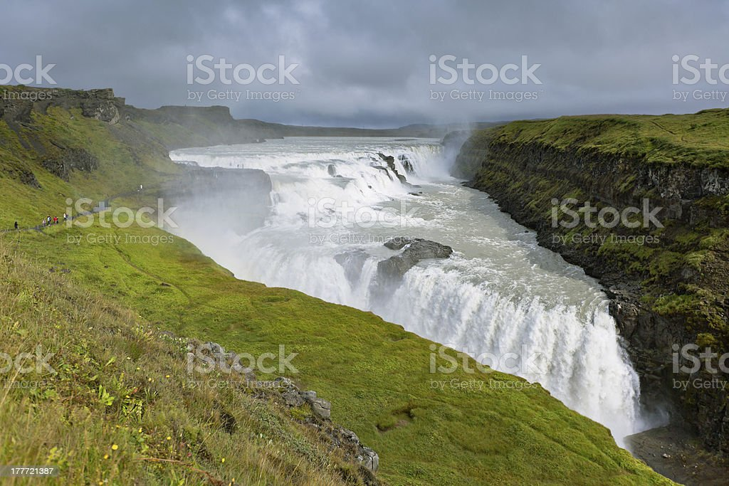 Gullfoss Waterfall, southern part of Iceland royalty-free stock photo