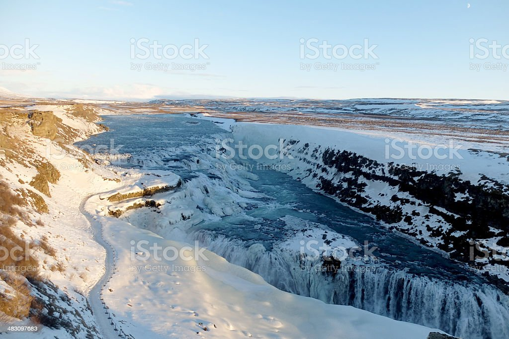 Gullfoss winter 3 stock photo