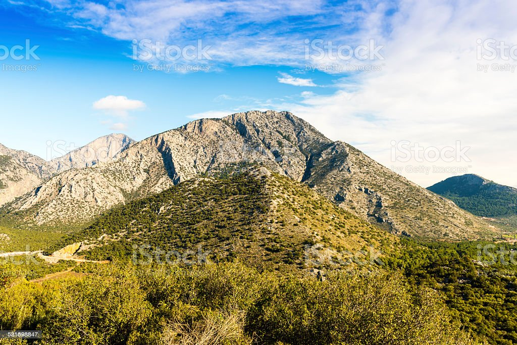 Gulluk Mountain National Park, Antalya stock photo
