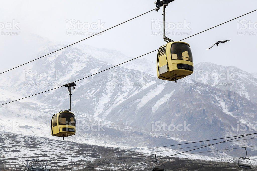 gulmarg gondola stock photo