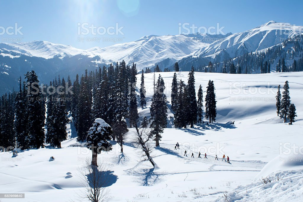 Gulmarg High Peaks stock photo
