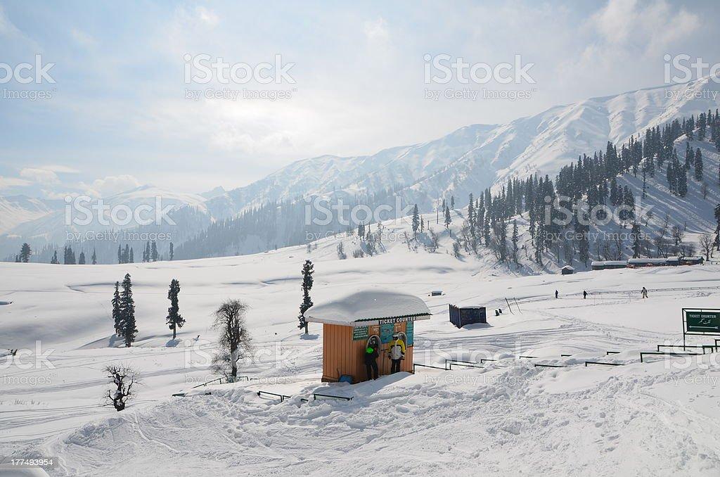 Gulmarg of Kashmir stock photo