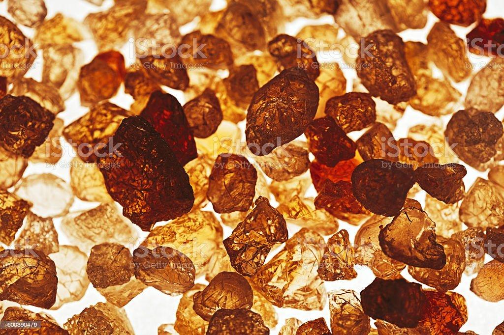 Gum Arabica stock photo