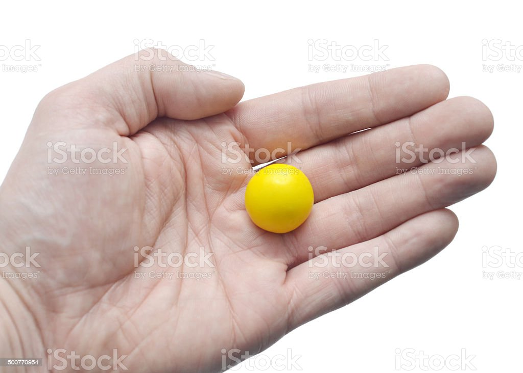 Gum Ball in Hand stock photo