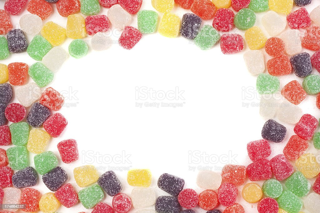 Gum Drop Border stock photo