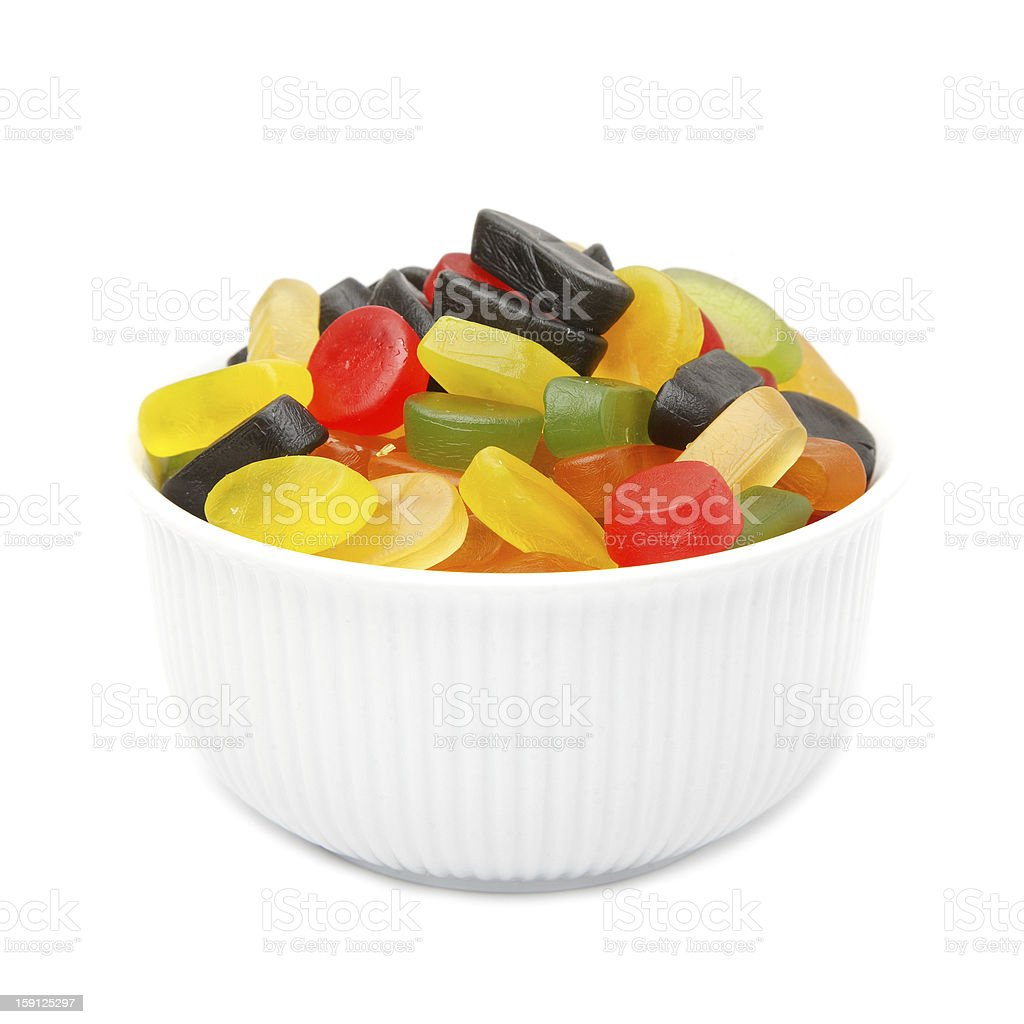 Gum in a bowl royalty-free stock photo