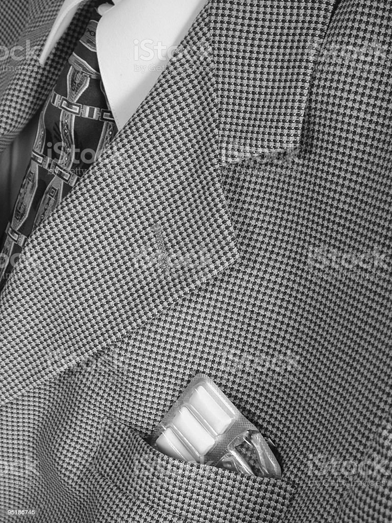 gum in pocket of business suit royalty-free stock photo