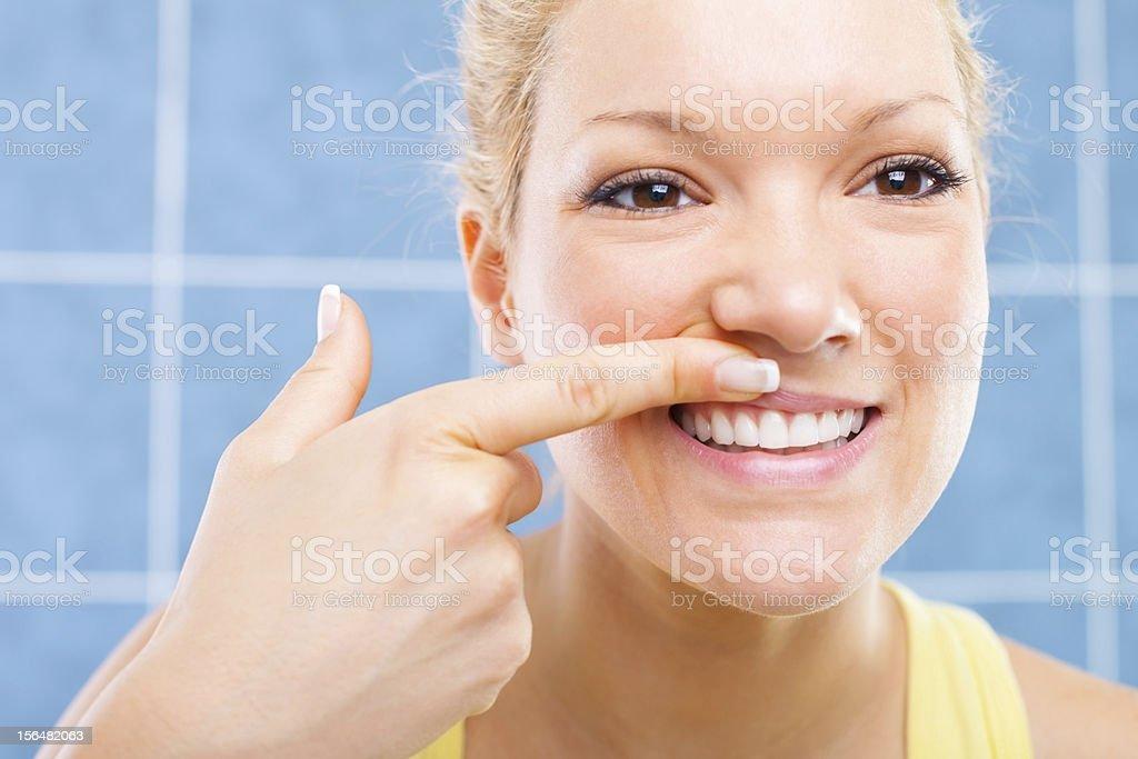 Gum massage stock photo