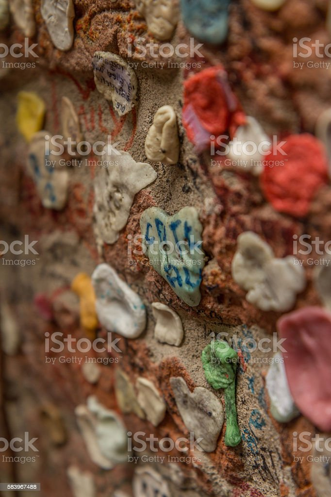 Gum on the wall - Verona stock photo