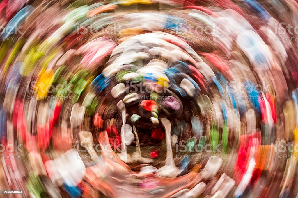 Gum Wall Background With Circular Motion Blur stock photo