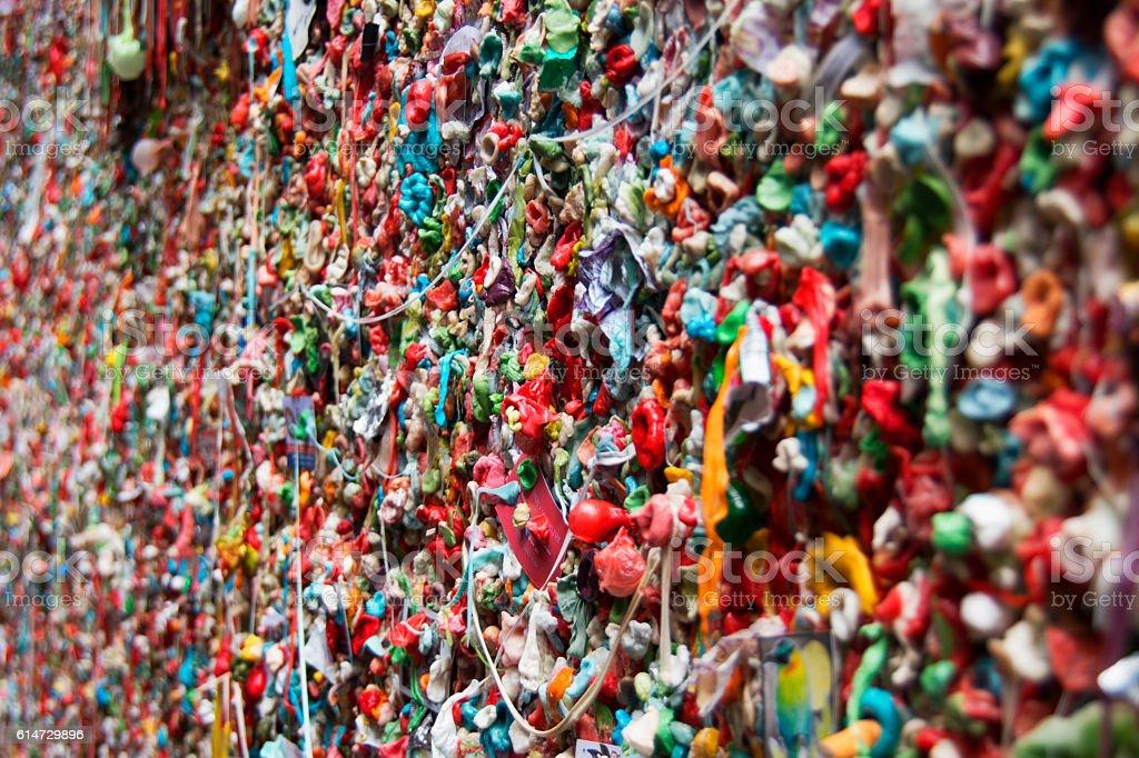 Gum Wall, Seattle stock photo