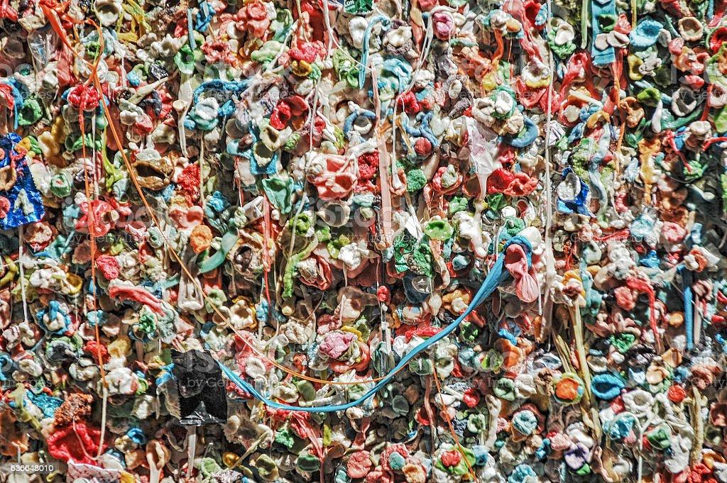 Gum Wall - Seattle Washington stock photo
