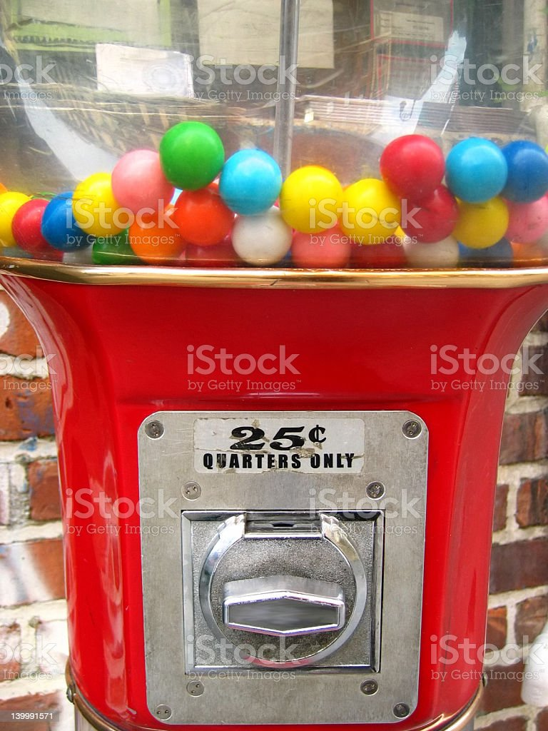 Gumball machine on the street royalty-free stock photo