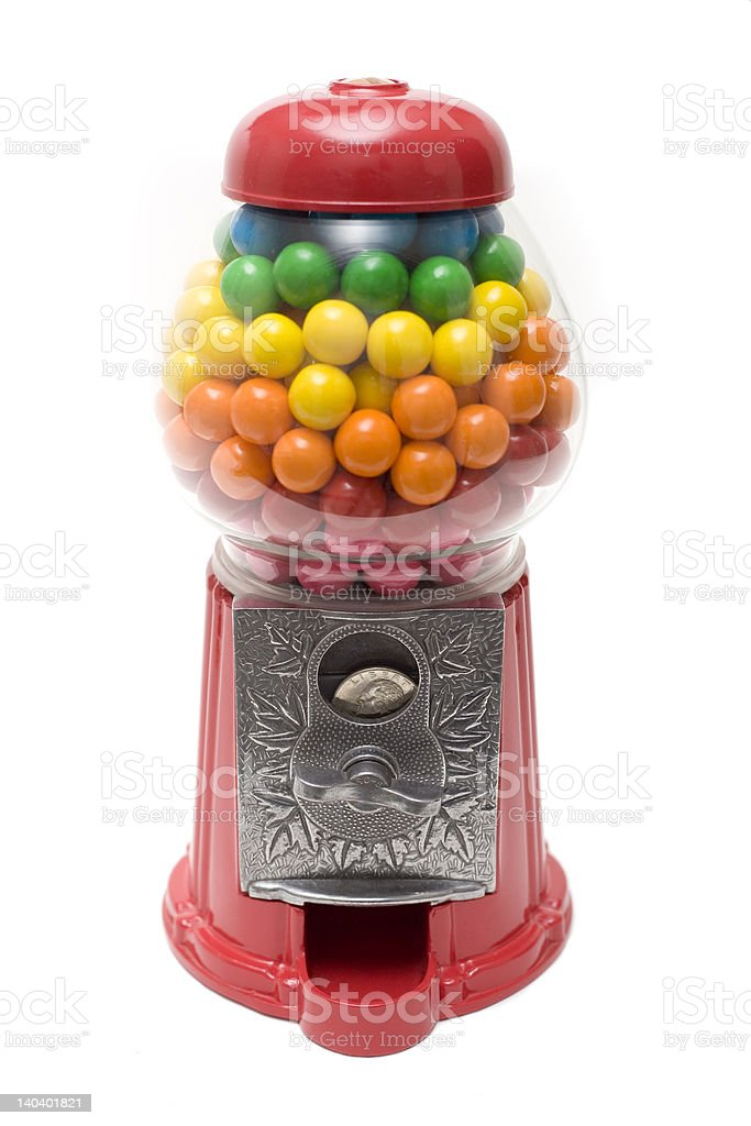 GumBall Machine Rainbow royalty-free stock photo